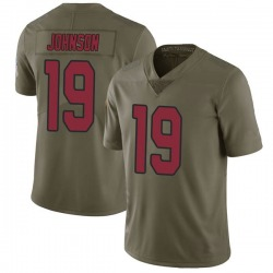 Nike KeeSean Johnson Arizona Cardinals Men's Limited Green 2017 Salute to Service Jersey